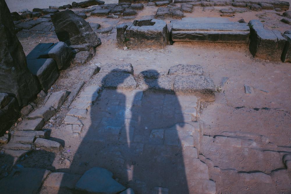 Jenia and Sergey at Angkor Wat, Cambdoia