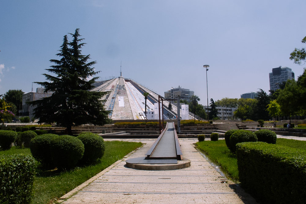 Pyramida in Tirana, Albania