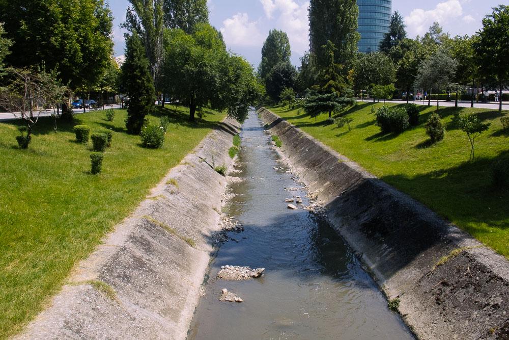 Rinia Park in Tirana, Albania