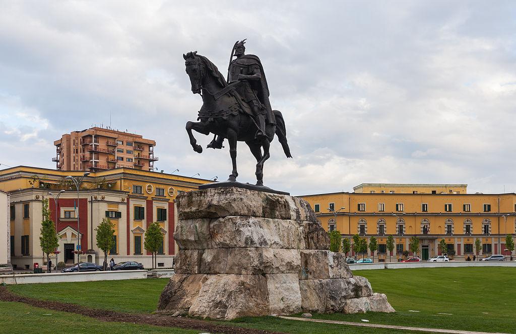 Skanderberg Square in Tirana, Albania